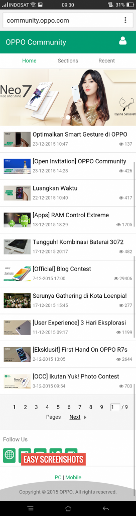 Easy Long Screenshot Guide on Oppo F1 Plus
