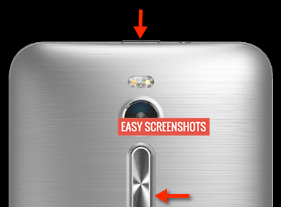 Take Screenshot On Asus Zenfone 2 Easily with hardware keys