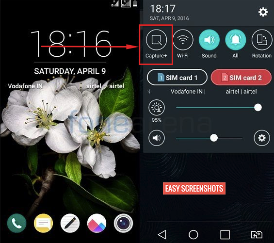 How To Take Screenshot on LG k7 with screenshot toggle