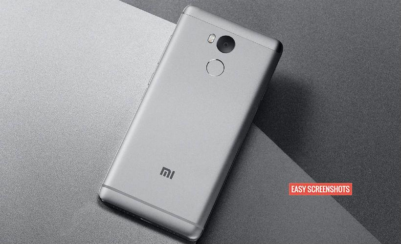 Press Volume Down And Power Button To take Screenshot On Xiaomi Redmi 4a