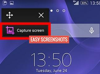 Take Partial Screenshot on Xperia Z