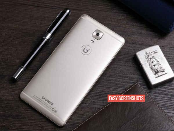 How to screenshot on Gionee A1
