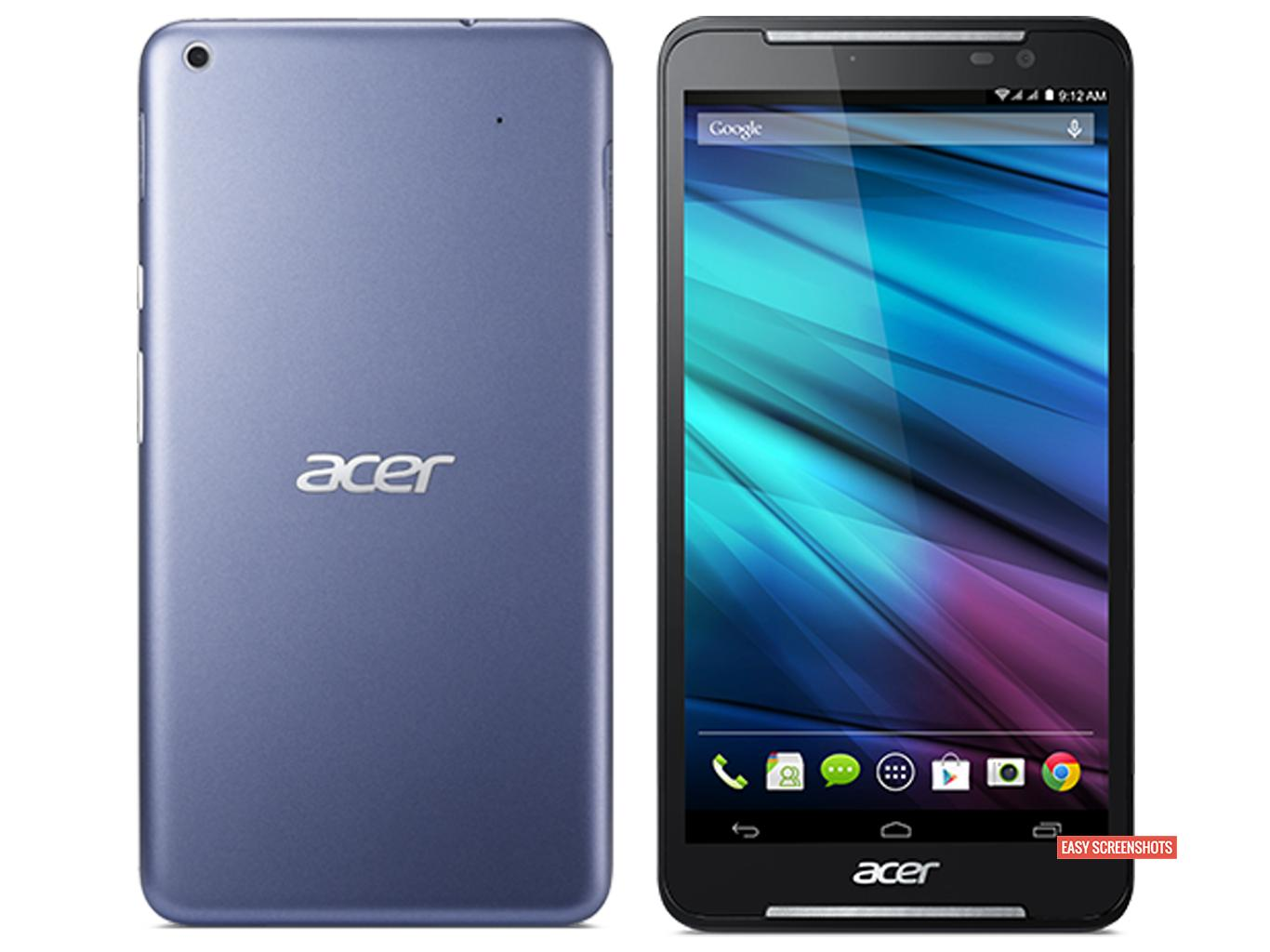 how to screenshot on Acer Iconia Talk S