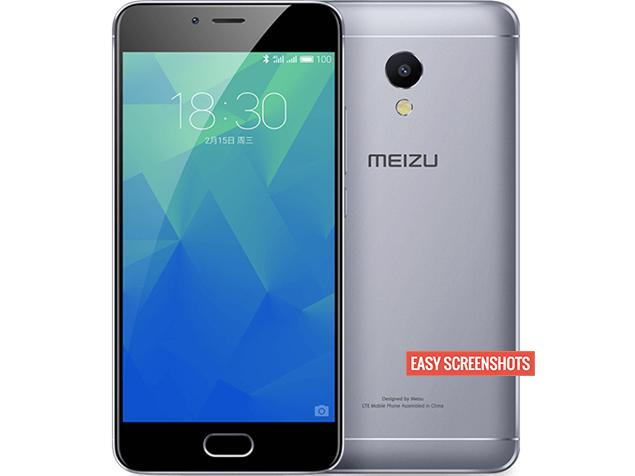 how to take screenshot on Meizu M5s