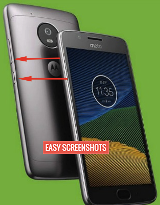 moto g5 plus easy screenshot guide