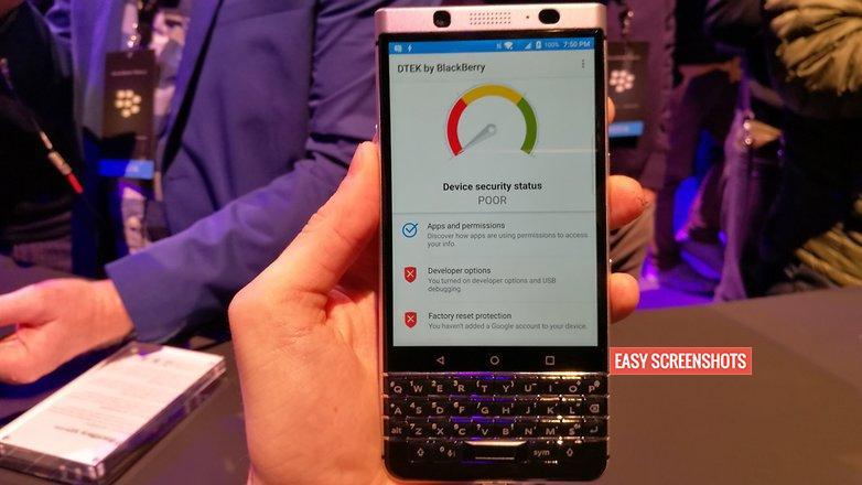 Long Screenshot in BlackBerry Keyone