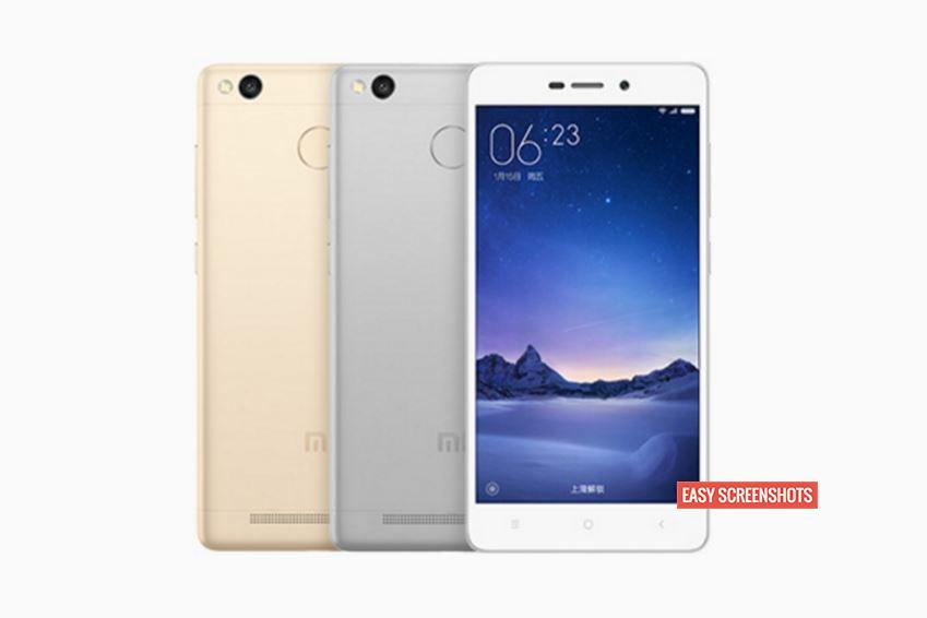 Best methods to take screenshot in Xiaomi Redmi 3s Prime