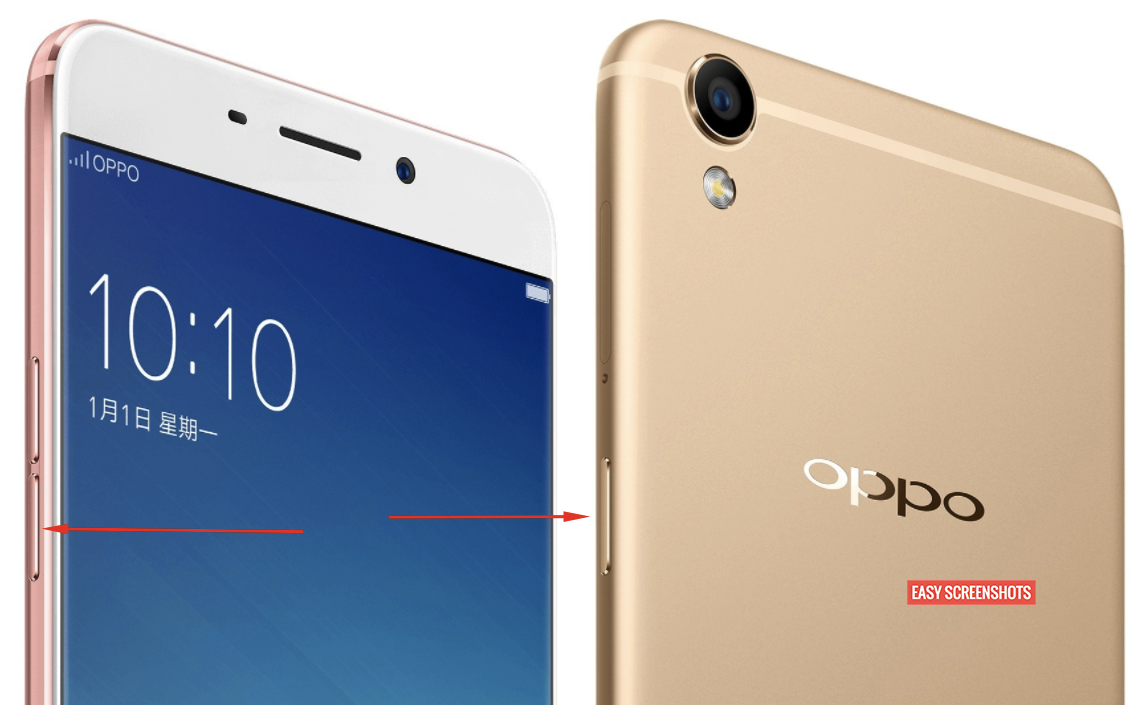 oppo r9 easy screenshot to take screenshot